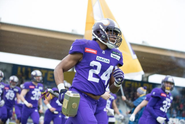 Vikings DB #24 Andrew Spencer. Foto (c) by Andreas Bischof